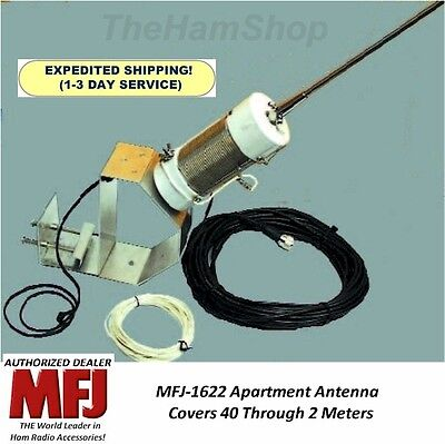 MFJ 1622 Apartment Antenna 40 - 10 Meters on HF and 6 and 2 Meters on VHF& Mount on Rummage