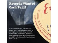 WANTED - well cared for record collections, best prices paid, cash on collection!