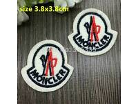 X10 moncler iron on patch badges 10 pound can post