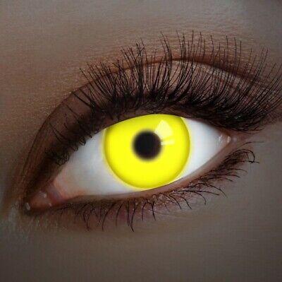 aricona Farblinsen UV Kontaktlinsen farbig zum Halloween Make-up - Avatar Kontaktlinsen