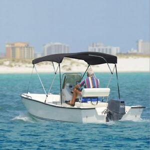 "3 Bow Bimini Boat Cover 6' Ft Top 54""-60"" W/ Boot Gray Cove…1"