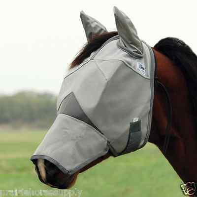 CASHEL CRUSADER FLY MASK Standard HORSE With COVERS EARS and NOSE sun protection