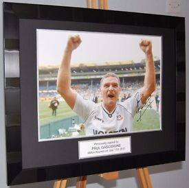 Paul Gascoigne Tottenham Hotspur 1991 FA Cup Signed and Framed Photo