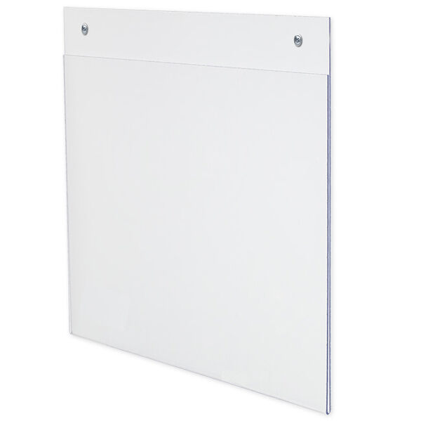 """Dazzling Displays 100 Acrylic 11"""" x 8-1/2"""" Wall Mount Sign Holders"""