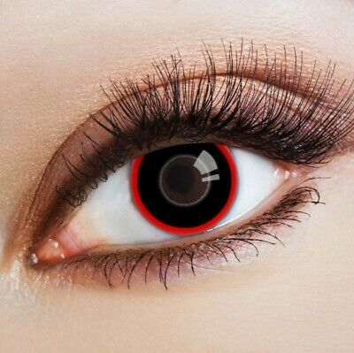 aricona Farblinsen schwarze Kontaktlinsen rot Horror Halloween Kostüm Cosplay