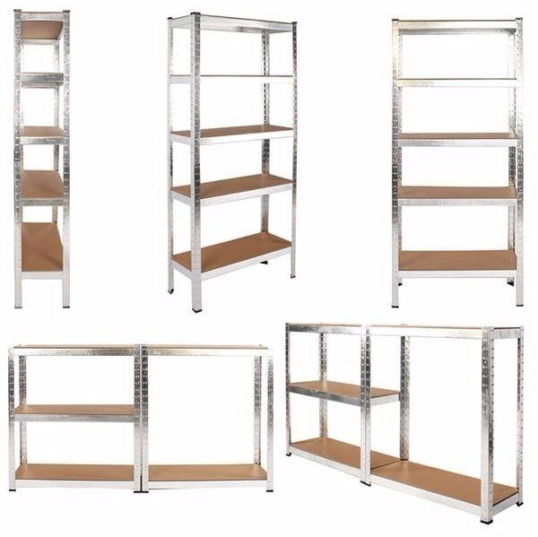 Metal Racking Garage Shelving Warehouse 5 Tier Storage Unit Shelf Heavy Duty