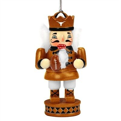 Texas Longhorns Christmas Ornament (Texas Longhorns Nutcracker Christmas Tree Wood Ornament by Forever Collectibles)