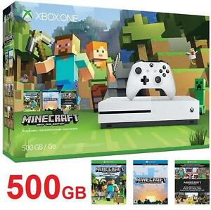 NEW XBOX ONE S MINECRAFT CONSOLE VIDEO GAMES -  XBOX ONE S MINECRAFT BUNDLE EDITION 106498561