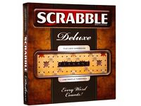 Scrabble Deluxe Turntable Board Game - NEW