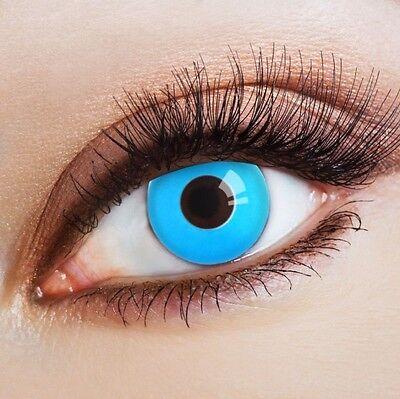 aricona Farblinsen blaue Kontaktlinsen farbig hellblaue Jahreslinsen ohne (Hellblaue Kontaktlinsen)