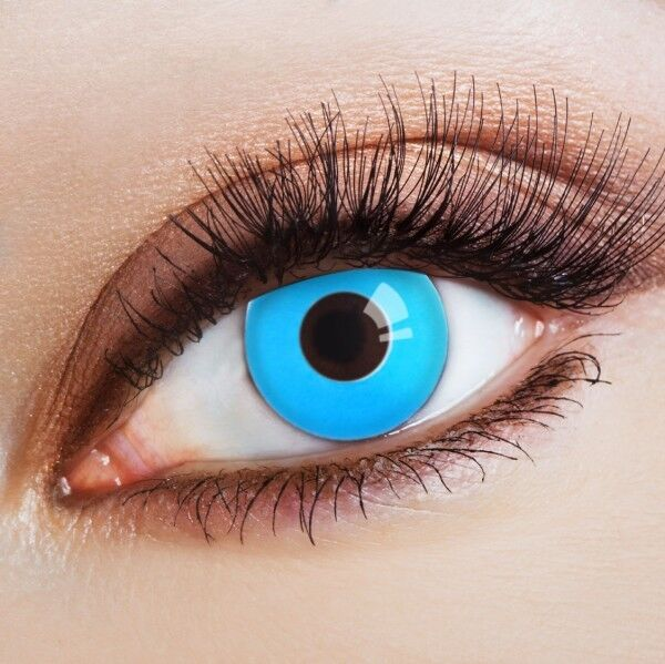 aricona Farblinsen blaue Kontaktlinsen farbig hellblaue Jahreslinsen ohne Stärke