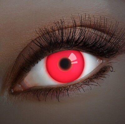 aricona Farblinsen rote UV Kontaktlinsen farbig Halloween Schminke Vampir Kostüm
