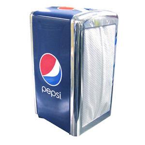 Pepsi Metal Napkin Dispenser Holder - Two Sided - *Brand New - **FREE SHIPPING**