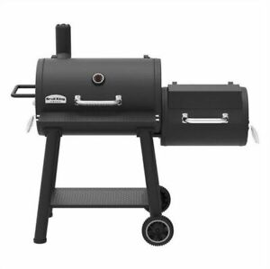 BROIL KING OFFSET XL CHARCOAL BBQ/SMOKER w/ Brand New Parts