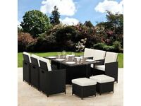 11 Piece 10 Seater Rattan Garden Furniture Set. FREE DELIVERY