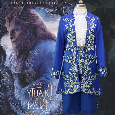 Cosplay Beauty and the Beast Prince Adam Cosplay Jacke Shirt Hose Kostüme Hot