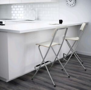 ikea white franklin bar stools never used other items