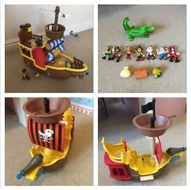Jake & the Netherland pirates toy bundle