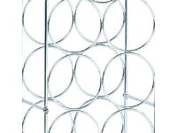 New pair of stainless steel wine rack