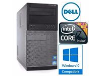FAST Dell Optiplex 790 Desktop PC * i7-2600 * 16GB RAM * 120GB SSD + HDD * Windows 7/10 * UK Postage