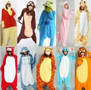 Adult-Fleece-Unisex-Onesies-Kigurumi-Animal-Pajamas-Cosplay-Costume-Sleepwear