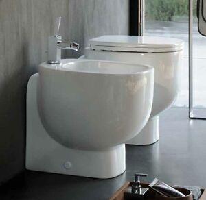 caricamento dellimmagine in corso sanitari bagno filo muro vaso sedile e bidet