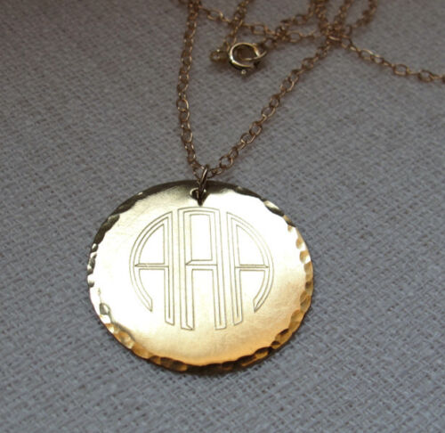 personalized monogram pendant