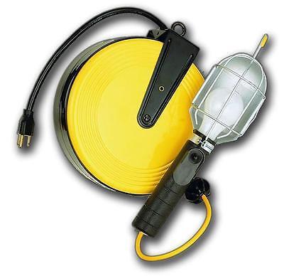 Bayco DROP LIGHT REEL 50' 18/3 CORD SL851 Metal Retractable Reel USA Free Ship