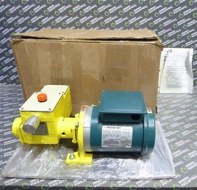 New Milton Roy 15cbm4ccnnse Metering Pump .126 Gph 115208-230v