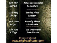Ghost hunting events with uk ghost hunts