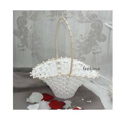 Satin Bow Wedding decoration Flower girl Small flower basket R3G3