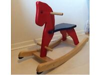 John Crane Baby's Rocking Horse, solid wooden toy