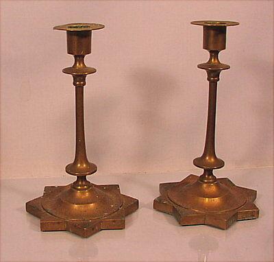 Paar alte Bronze Leuchter Russland um 1900 Russia candlesticks подсвечник