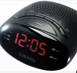 Craig CR45329B Dual Alarm Clock Digital AM/FM Radio with 0.6″ LED Display Snooze