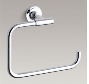 "Kohler K14441-CP ""Purist"" towel ring"
