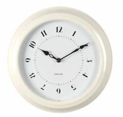 KARLSSON CLASSIC FIFTIES RETRO  WALL CLOCK - SILENT HOME OFFICE- IVORY 12 -NEW