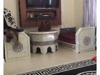 Moroccan sofa and table set
