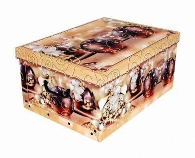 Dekokarton Weihnachten Dekobox mit Deckel Geschenkkarton Schachtel 51x37x24cm