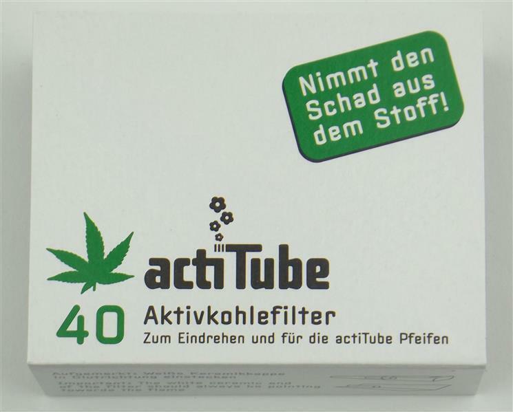 actiTube Aktivkohle Filter 8mm 40 Stück acti Tube