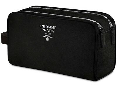 L'HOMME PRADA MILANO MENS TOILETRY/TRAVEL POUCH NEW IN BOX
