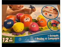 Baby bath toy. Tomy octopals- Brand new and unopened