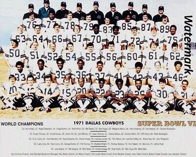 NFL 1971 Dallas Cowboys Super Bowl Champs Team Picture  8 X 10 Photo Free Ship 1971 Dallas Cowboys Super Bowl