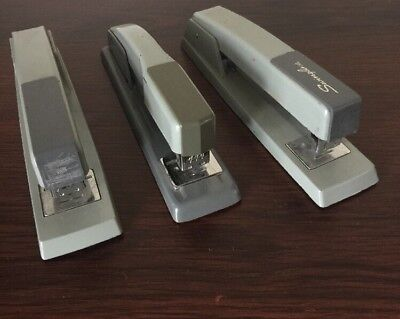 Lot Of 3 Vintage Swingline Staplers Gray