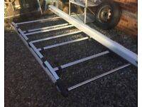 Ford connect rhino alloy full length roof rack & pipe tube with keys rhino