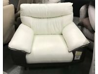 DFS two tone leather armchair