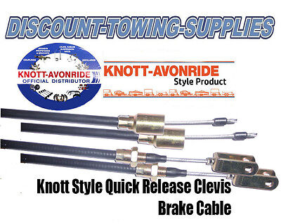 Knott Style Detachable Trailer Brake Cable x 2 with Clevis 1080 x 1240mm