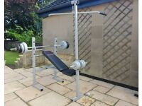 York Fitness weights bench home gym all-in-one exercise bench