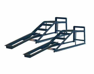 PAIR OF 2.5 TON TONNE EXTRA WIDE METAL CAR VAN RAMPS LIFTING WITH EXTENSIONS