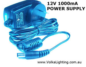 12V  1A Power Supply Adapter AC/DC  LEDs or CCTV