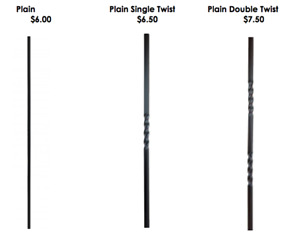 Wrought Iron Spindles / Balusters Excellent Quality